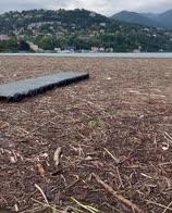Como, alluvione: il lago pieno di detriti. VIDEO
