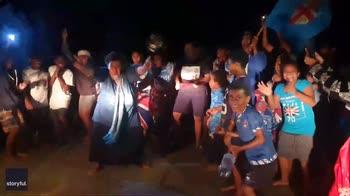 Festa alle isole Fiji per la vittoria nel rugby olimpico