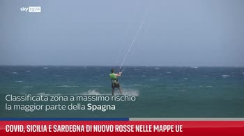 Covid, Sicilia e Sardegna di nuovo rosse nelle mappe Ue