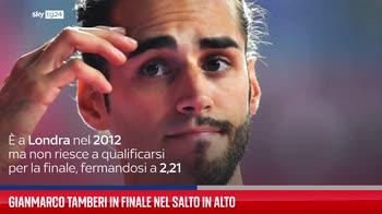 Gianmarco Tamberi in finale nel salto in alto