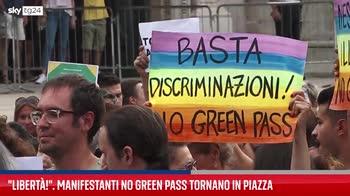 Milano, manifestanti no Green Pass tornano in piazza