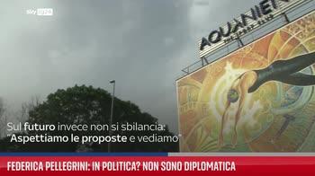 """Federica Pellegrini: """"Io in politica? Non sono diplomatica"""""""