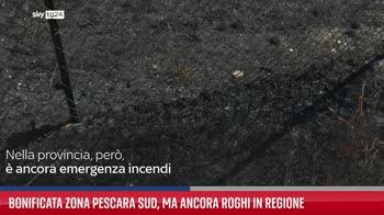Bonificata zona Pescara sud, ma ancora roghi in regione