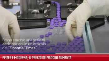 Pfizer e Moderna, il prezzo dei vaccini aumenta