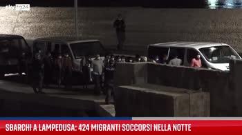 Nuovo sbarco di migranti a Lampedusa