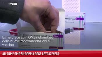 Allarme Oms su doppia dose AstraZeneca