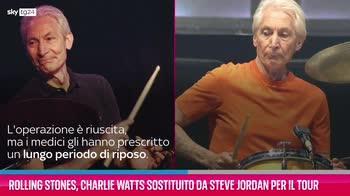 VIDEO Rolling Stones, Charlie Watts sostituito da Jordan
