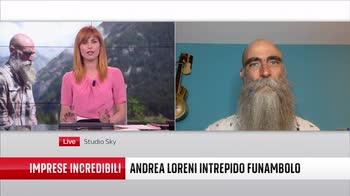 Andrea Loreni e la traversata della diga di Ceresole. VIDEO