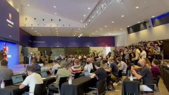 messi barcellona giornalisti conferenza