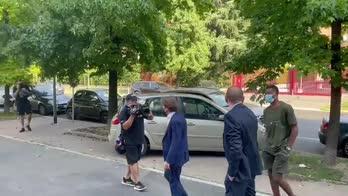 Inter, Dumfries arrivato al CONI per le visite mediche