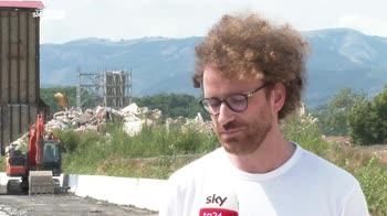 Sisma 2016, ad Amatrice arrivata la prima gru in zona rossa