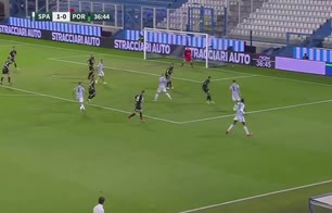Spal, il gol a giro di Lorenzo Colombo