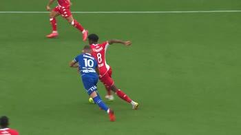 Troyes-Monaco 1-2, gol e highlights