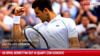 Us Open, Berrettini out ai quarti con Djokovic