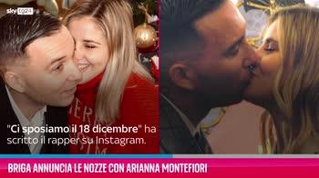 VIDEO Briga annuncia le nozze con Arianna Montefiori