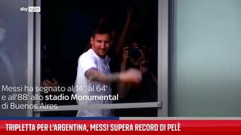 Tripletta per l?Argentina, Messi supera record di Pel�