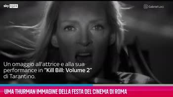 VIDEO Uma Thurman immagine della Festa del Cinema di Roma