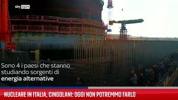 Nucleare in Italia, Cingolani: oggi non potremmo farlo