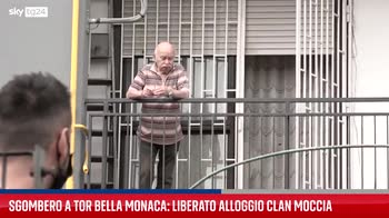 Roma, sgombero a Tor Bella Monaca