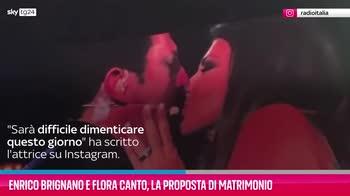 VIDEO Enrico Brignano e Flora Canto, proposta di matrimonio
