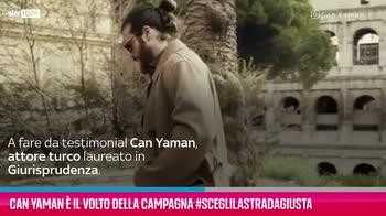 VIDEO Can Yaman volto della campagna #sceglilastradaGIUSTA