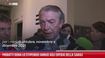 Moratti dona lo stipendio annuo agli operai della Saras