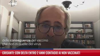 Crisanti: con Delta entro 2 anni contagio ai non vaccinati