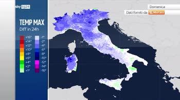Meteo: ciclone al centro-nord in spostamento verso i Balcani