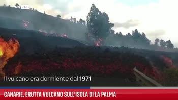 Canarie, erutta vulcano sull'isola di La Palma