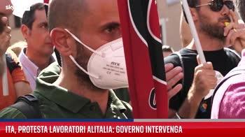 Roma, protesta dei lavoratori Alitalia
