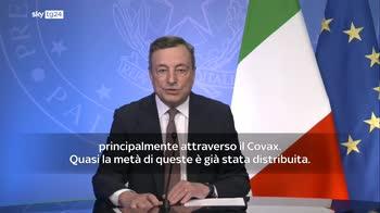 Vaccini, Draghi: da Italia 45 milioni di dosi a Paesi poveri