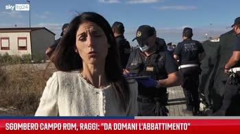 Raggi: domani inizia abbattimento campo rom La Barbuta
