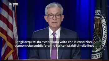 Powell (Fed): presto potremo ridurre aiuti all'economia