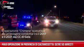 Maxi operazione in provincia di Caltanissetta: oltre 50 arresti