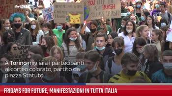 Fridays for future, manifestazioni in tutta Italia