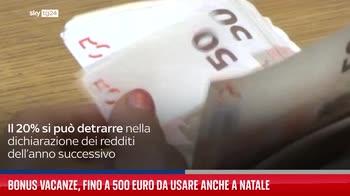 Bonus vacanze, fino a 500 euro da usare anche a Natale