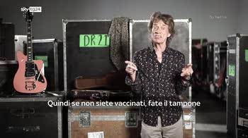 "Parte il tour dei  Rolling Stones: ""Vaccinatevi"""