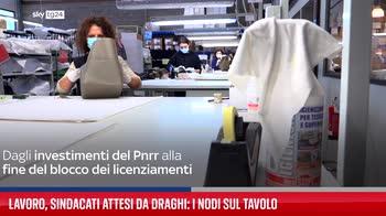 Lavoro, sindacati attesi da Draghi: i nodi sul tavolo