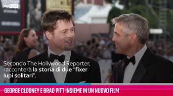 VIDEO George Clooney e Brad Pitt insieme in un nuovo film