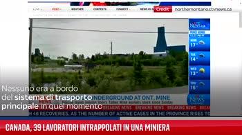 Canada, 39 lavoratori intrappolati in una miniera