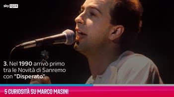 VIDEO Marco Masini, 5 curiosità sul cantante