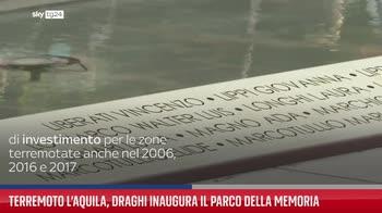 Terremoto L?Aquila, Draghi inaugura il Parco della Memoria