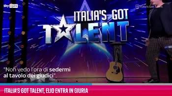 VIDEO Italia's Got Talent, Elio entra in giuria
