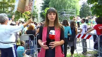 Milano, manifestazione Fridays For Future durante Pre-Cop