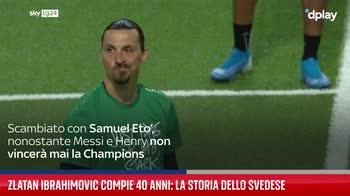 Zlatan Ibrahimovic compie 40 anni: la storia dello svedese
