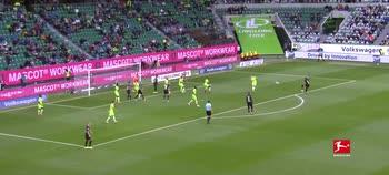 Il gol di Embolo, Wolfsburg-Borussia