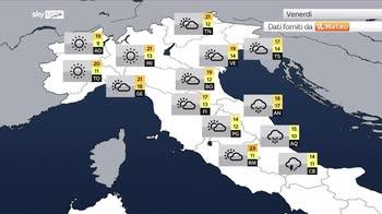 Meteo, ciclone carico di piogge su adriatiche e sud
