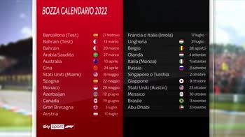 calendario bozza 2022 f1 canale 207 ore 11.06