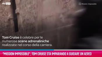 VIDEO Mission Impossible, Cruise impara a guidare un aereo