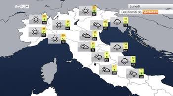 Previsioni meteo: vortice in azione sud sud